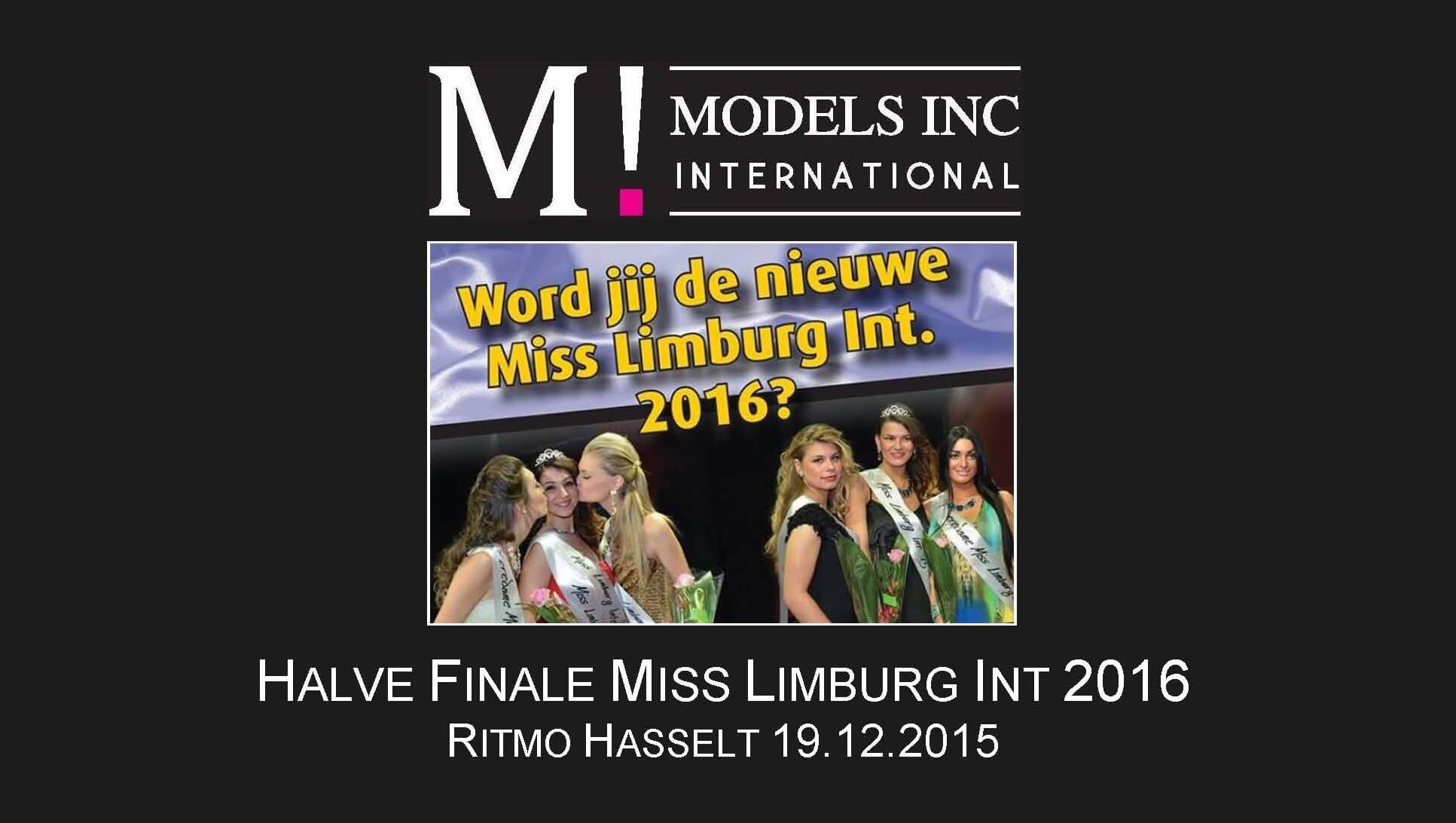 Halve finale Miss Limburg International 2016